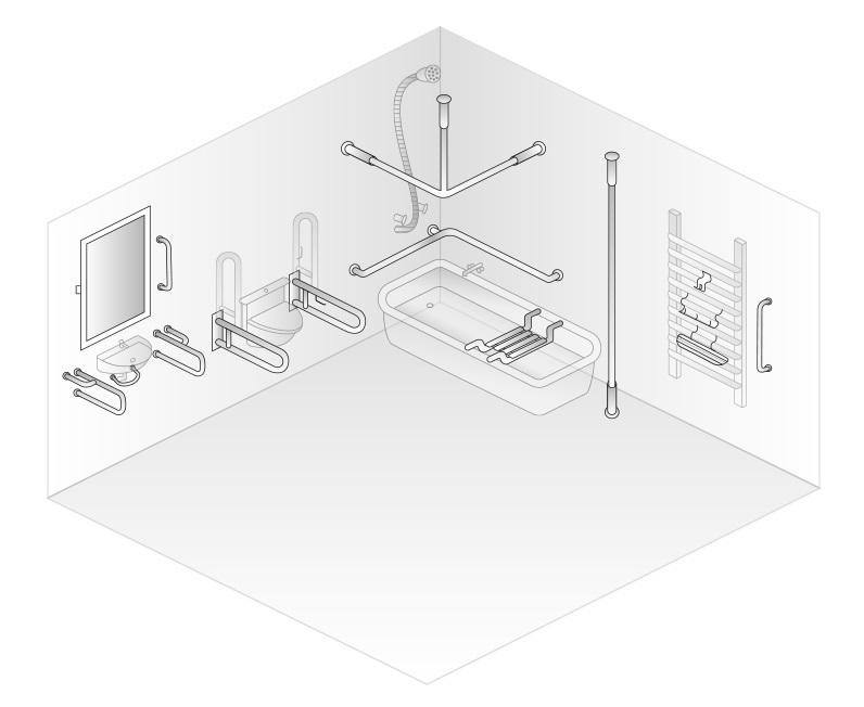 Využití invalidních madel v koupelně