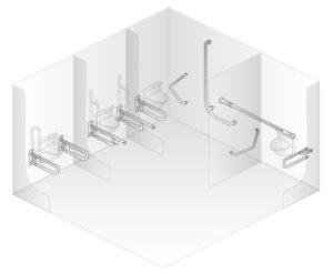 Využití madel na toaletách