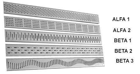 Vzorník tvarů krycích roštů