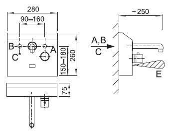 Schéma - AUM 4 automatická povrchová baterie