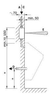 Schéma - AUP 2 splachovač pro jeden pisoár s montážní krabicí s kulovým ventilem