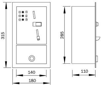 Schéma - MAP 2 mincovní automat pro ovládání 2-5 praček nebo jiných spotřebičů
