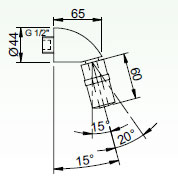 Schéma - SP 3 sprchové ramínko naklápěcí - průtok 9 l/min.- ANTIVANDAL