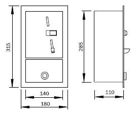 Scheme of coin automat