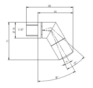 Schéma - SP 4 sprchové ramínko naklápěcí - průtok 9 l/min - ANTIVANDAL
