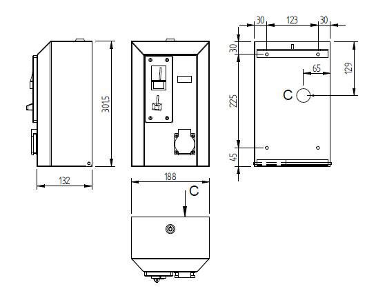 Schéma - MAK 5 Mincovní automat pro placený výdej elektřiny